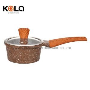 aluminum home cooking fry pan and casserole set non stick marble cookware set cooking pots cast aluminium sets factory