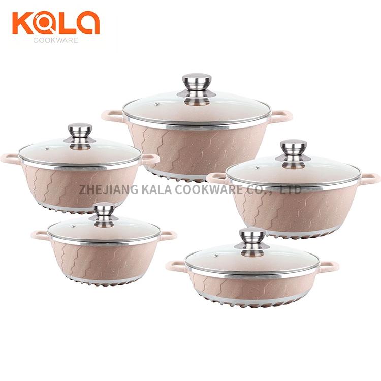 aluminium marble coating cooking pot
