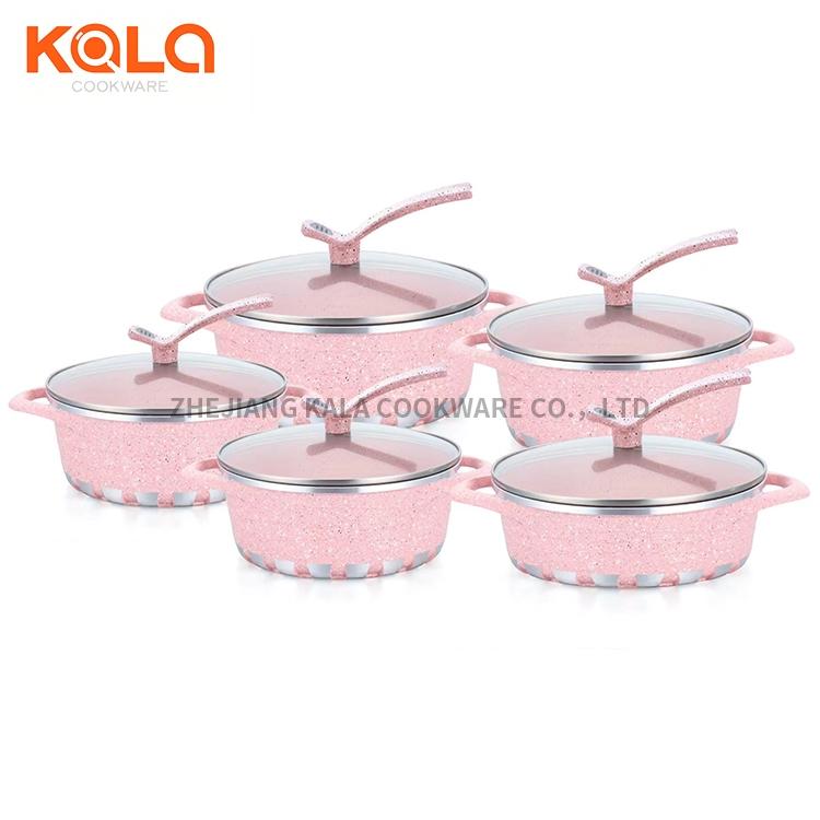 pink non stick cooking pot