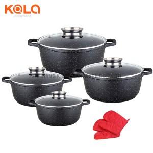 ensemble casserole et poeles aluminium cooking pot kitchenware non stick marble turkey cookware sets china manufacturers