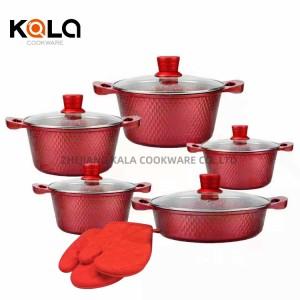 kitchen ware stock pot dessini cookware casserole pot marble pan set cooking pot cuisine accessories kitchen supplies