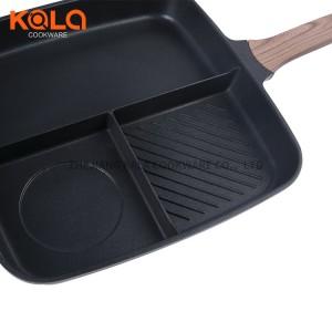 32cm griddle grill pan cast aluminium non sticky frying pan bulgogi fry pan multi cooking pot manufacturers