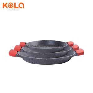 Wholesale Roast Skillet - camping frying pan korea bbq grill pan cast aluminium marble non-stick cooking pan multipurpose cookware oven tray factory – KALA