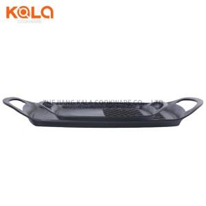 korean bbq cooking pan sets square aluminium frying pans cast aluminium non-stick marble coating grill pan factory