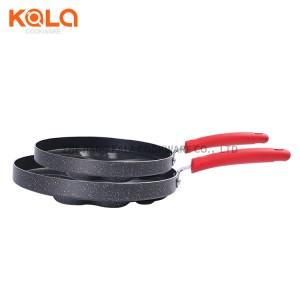 mini cheese cake pan manufacturers pressed aluminium heart cake fry pan nonstick marble coating grill pan 4 egg cooking pot