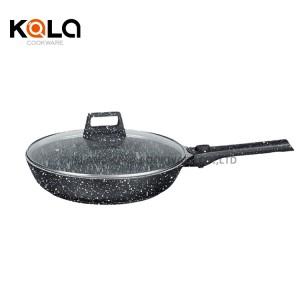 good selling kitchen supplies detachable handles pan cookware set grill pan marble baking pot nonstick frying pan wholesale