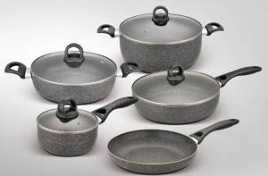 factory low price Wholesale Cooking Steamer - Casserole Manufacturer OEM Kitchen pot Non-stick 9pcses Aluminun cookware set cooking pot  – KALA