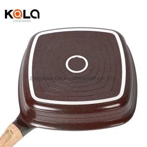 ceramic coating fry pan marble coated korean bbq grill pan cast aluminium frying grill pan   manufactur