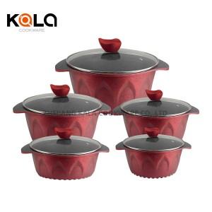 classic kitchen ware cooking pot set non stick cookware set with frying pan big casserole pan hotpots zhejiang kitchen supplies