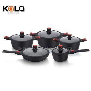 new model hot pots cookware set detachable handles with nonstick frying pan marble casserole Cookware Parts wholesale