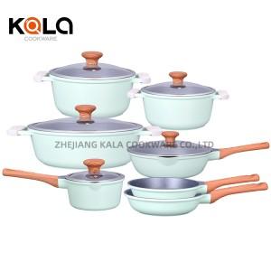 multipurpose ceramic frying pan set wok kitchen equipment ceramic cooking nonstick cookware sets zhejiang factory