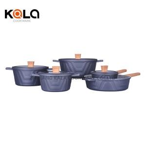 good selling cooking pots cast aluminum sets cookware casserole multipurpose wok frying pan zhejiang factory manufacturers