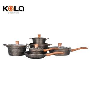 11pcs cooking pots granit set high quality wok pan customize cooking pots supplies wholesale manufacturer casserole de luxe