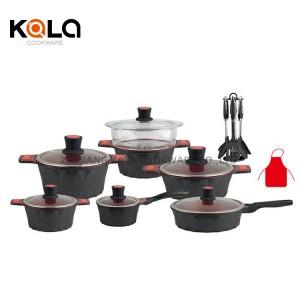 luxury houseware cookware set kitchen cooking frying pan non stick cooking pot set casserole Cookware Parts factory